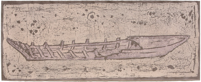 Print 86x215 εκ, 1994.Work of distinction in the Osaka Trienniale '94, Japan